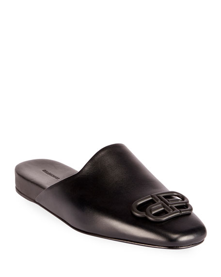 Balenciaga Cosy BB Flat Carrera Leather Mules