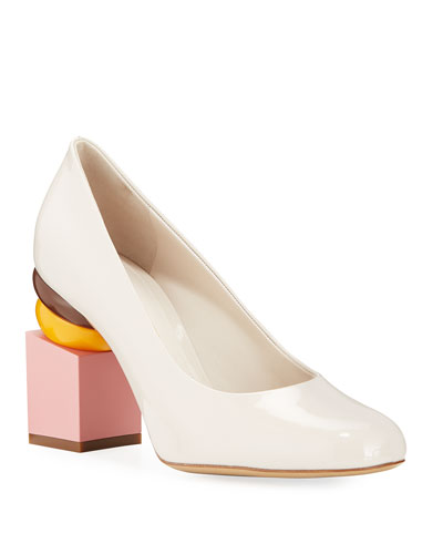 Lotten Pumps with Heel Detail