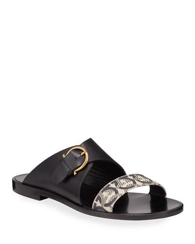 Cassie Flat Gancio Slide Sandals