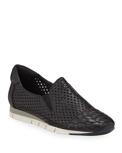 Cade Woven Leather Sneakers with Built-In Arch