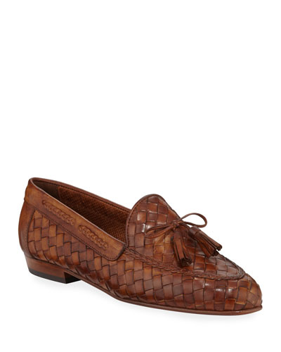 Nicole Iconic Woven Leather Tassel Loafers