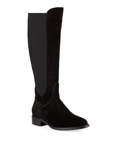Aquatalia Nanon Stretch-Suede Knee Boots