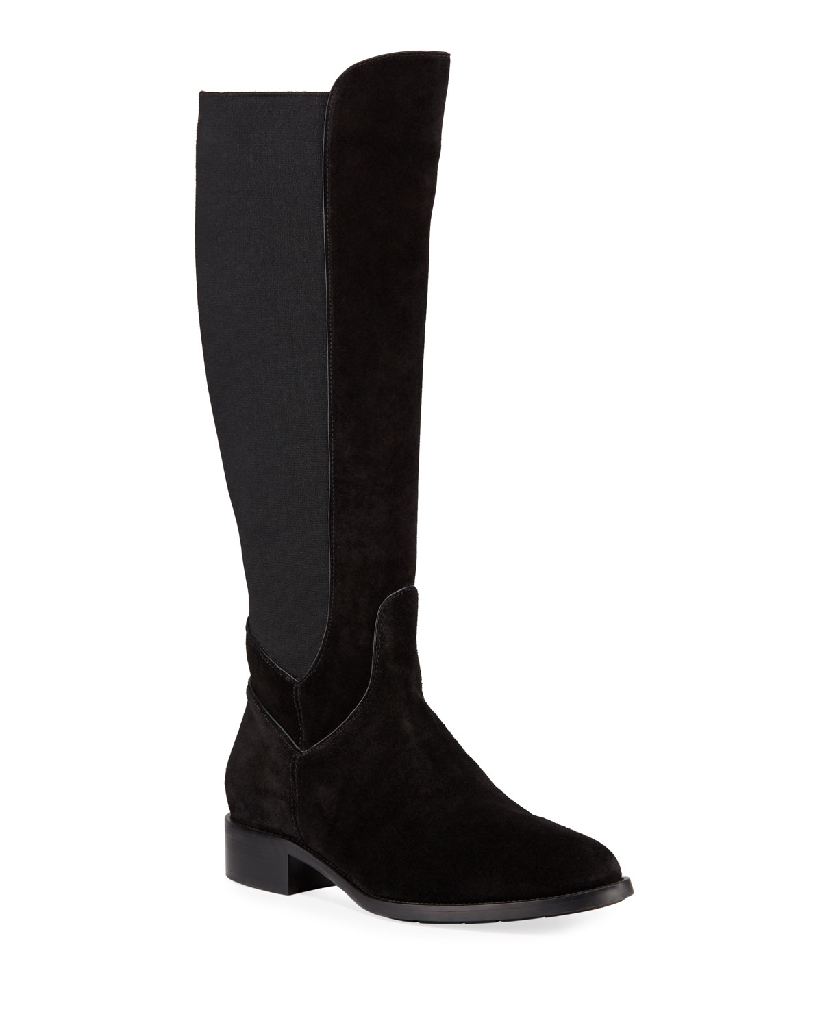 Nanon Stretch-Suede Knee Boots