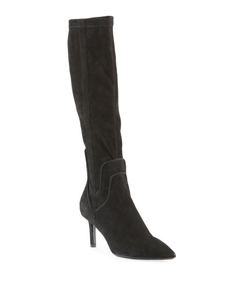 Aquatalia Mariel Suede Knee Boots