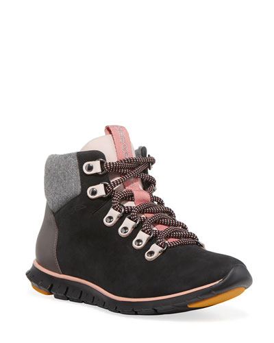 Zerogrand Leather & Wool Hiker Boots