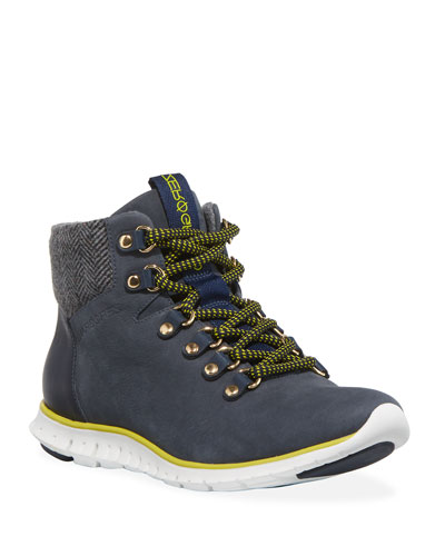 Men's Zerogrand Leather & Wool Hiker Boots