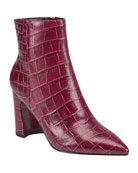 Marc Fisher LTD Daith Croco Zip Booties