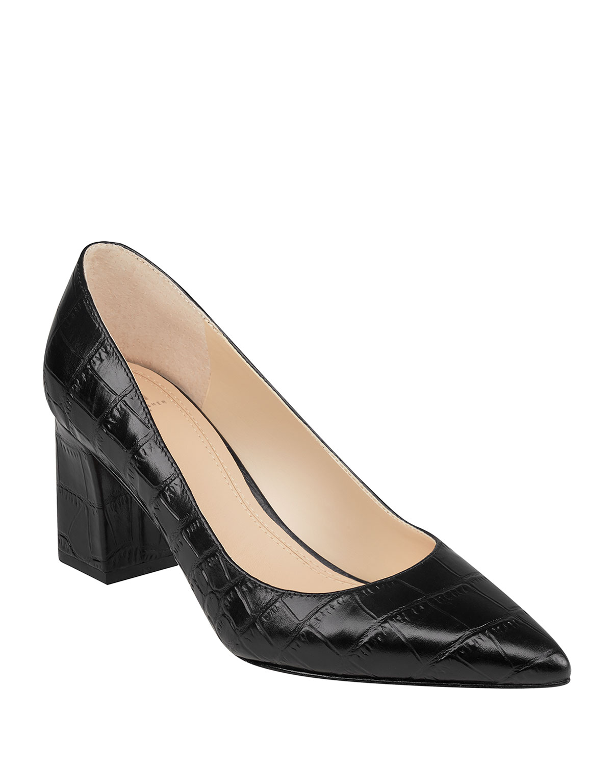 Zala Crocodile-Embossed Pumps
