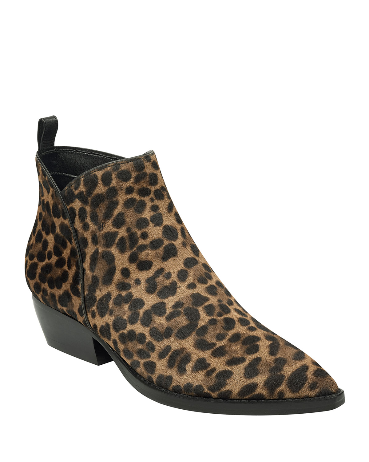 Obrraly Leopard Ankle Booties