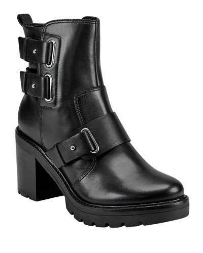 Dream Lug Leather Booties