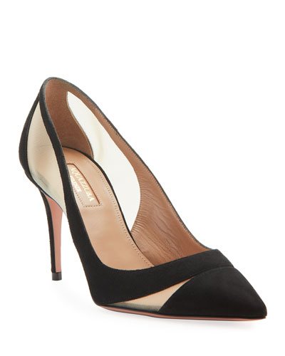 Savoy Suede Pointed Pumps