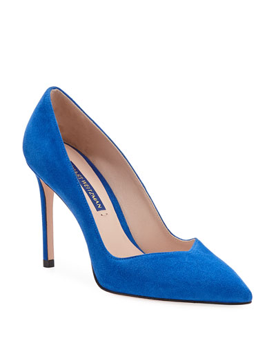 Anny Suede Pointed-Toe Pumps