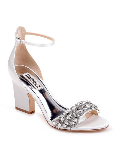 Laraine Embellished Satin Sandals
