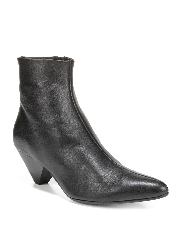 Alder Leather Zip Booties