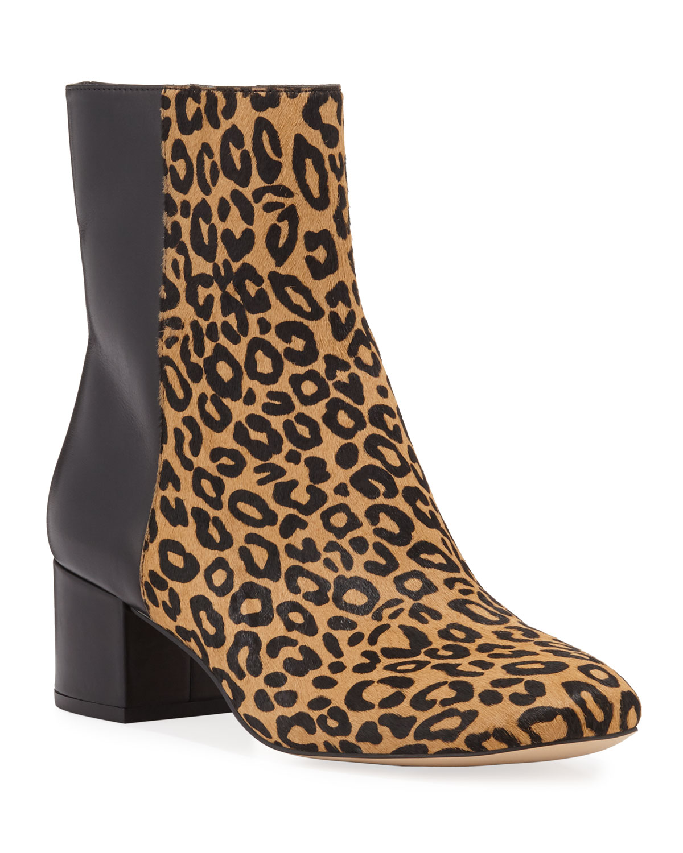 Cindee Mod Leopard-Print Booties