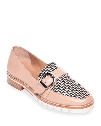 Octavia Buckle Mini Houndstooth Flats