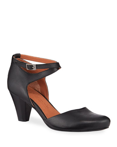 Raven Leather Comfort Pumps