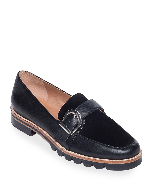 Octavia Buckle Loafer Flats
