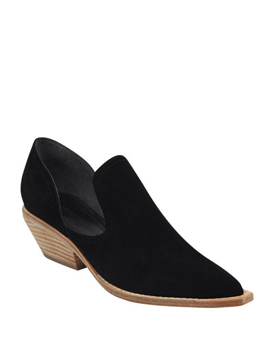 Tabatha Suede Cutout Ankle Booties