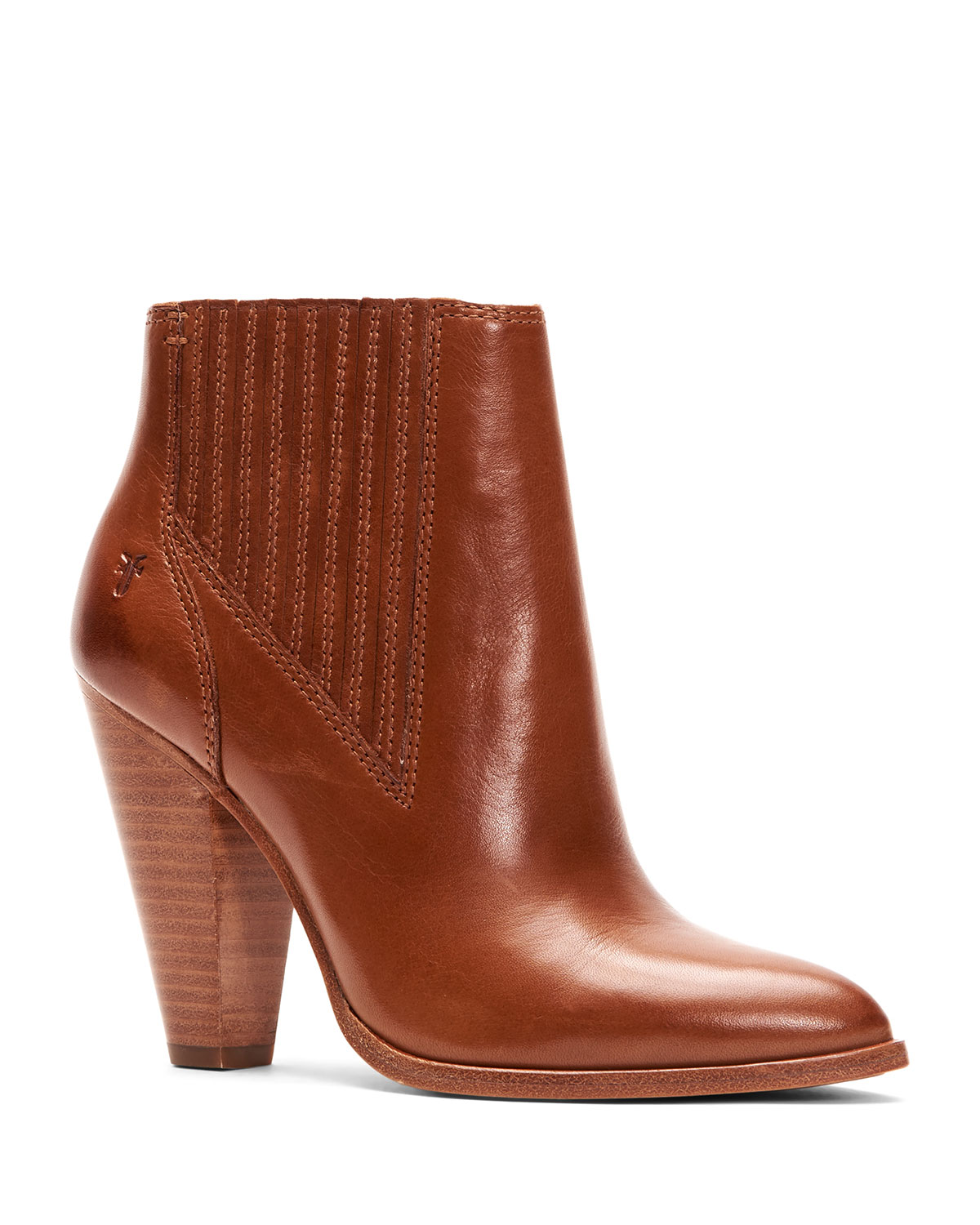 Remy Heeled Leather Chelsea Booties