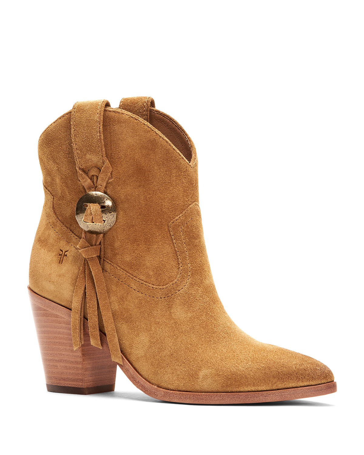 Faye Concho Short Suede Western Booties