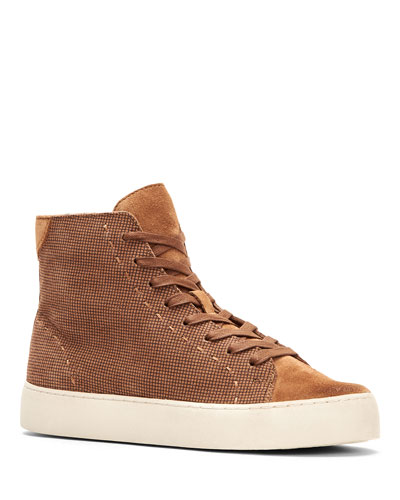 Lena High-Top Suede Sneakers