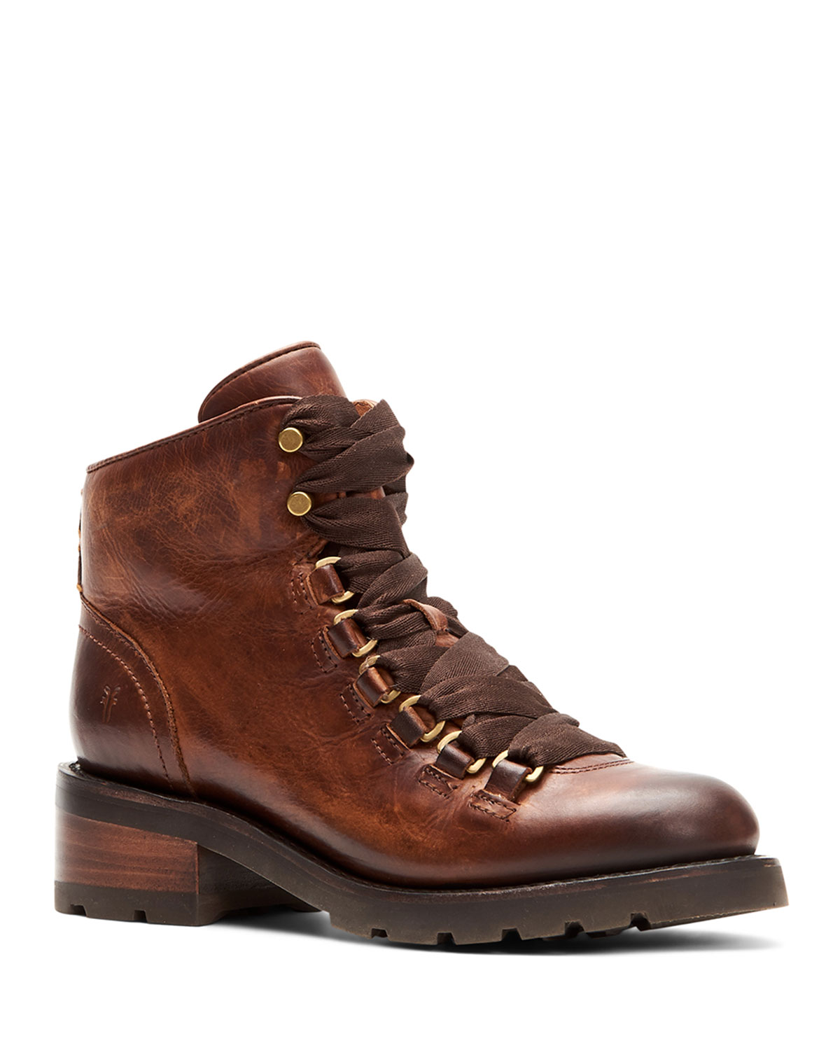 Alta Burnished Leather Hiker Booties