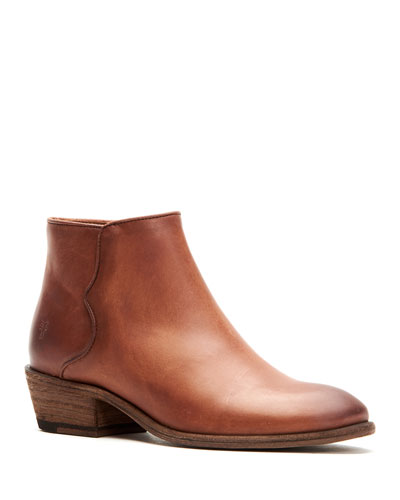 Carson Piping Leather Booties