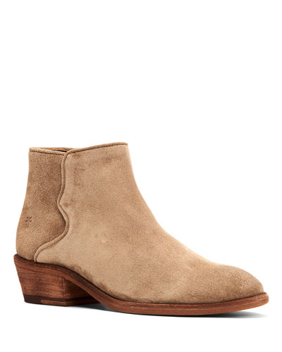 Carson Piping Suede Booties