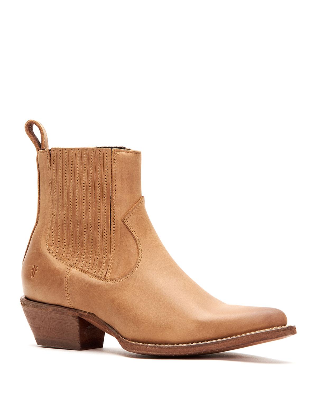 Sacha Calf Leather Chelsea Booties