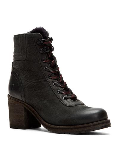 Karen Fur-Trim Hiker Boots