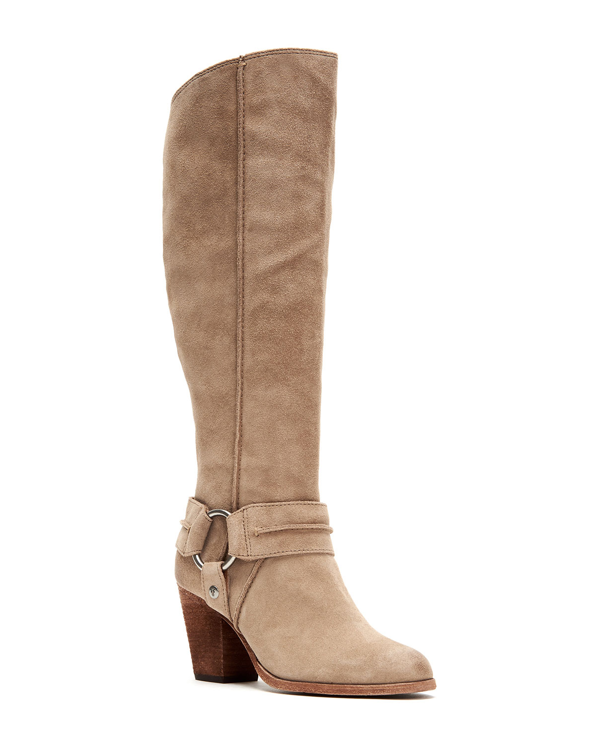 Essa Tall Suede Moto Harness Boots