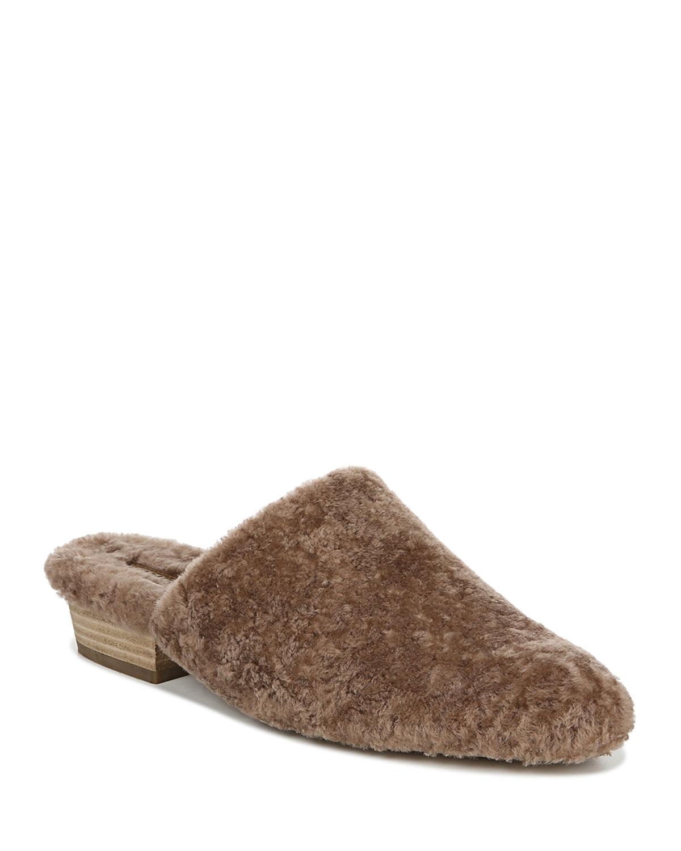 Gaia Shearling Slide Mules