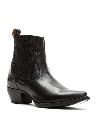 Sacha Chelsea Leather Chelsea Booties