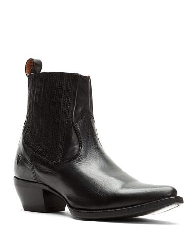 Sacha Chelsea Leather Booties