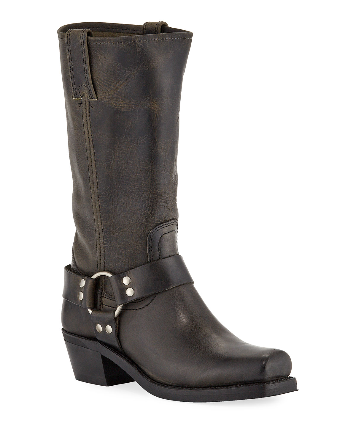 Harness 8R Leather Knee Boots