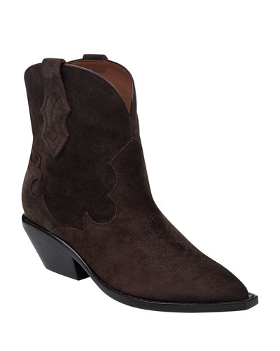 Taima Suede Western Booties