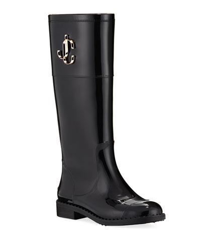 Edit Flat Knee Rain Boots