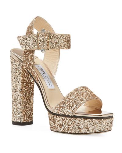 Maie Glitter Platform Sandals