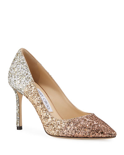 Romy 85mm Glitter Degrade Pumps