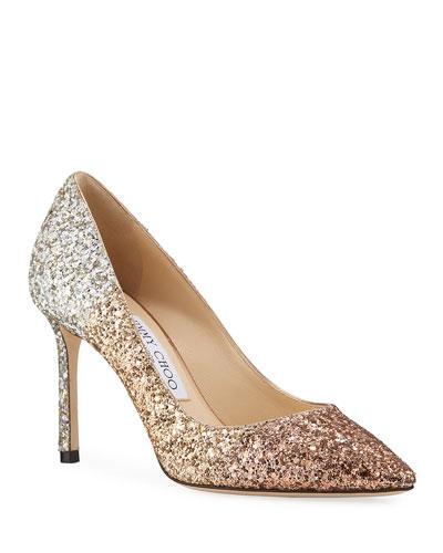 Jimmy Choo Glitter Shoe | Neiman Marcus