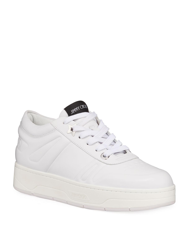 Hawaii Leather Flatform Sneakers