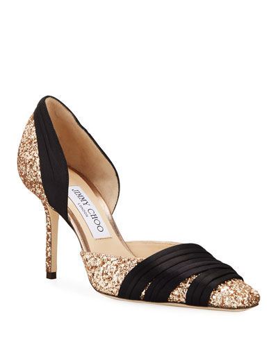 Lyrin Coarse Glitter Pumps