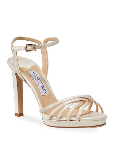 Lilah Satin High-Heel Sandals