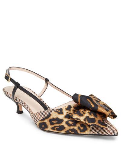 daxton kitten-heel slingback pumps