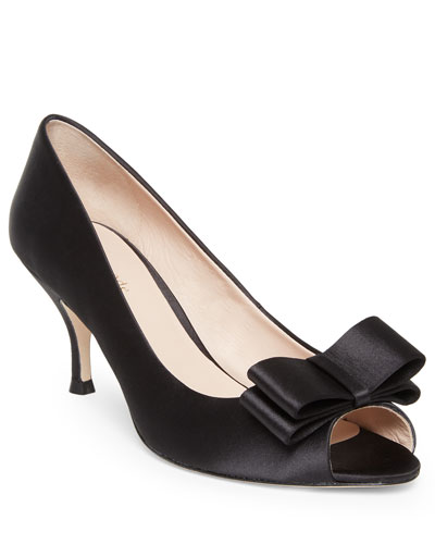 Cecilia Leather Bow Pumps
