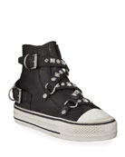 Ash Vanessa Studded High-Top Sneakers