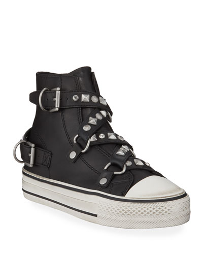 Vanessa Studded High-Top Sneakers
