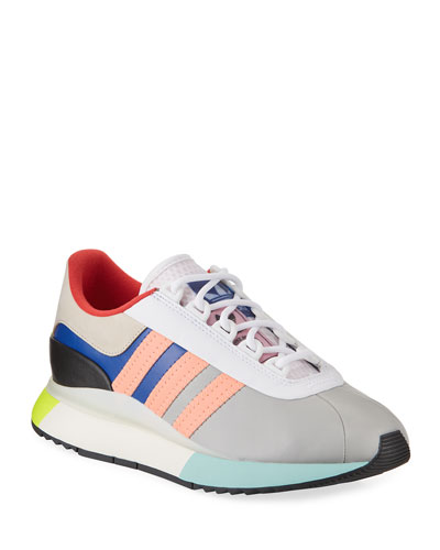 Colorblock Leather Fashion Sneakers