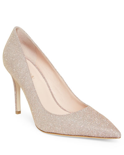 Metallic Pointed-Toe Stiletto Pumps